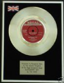"THE MOVE  - 7"" Platinum Disc - BLACKBERRY WAY"